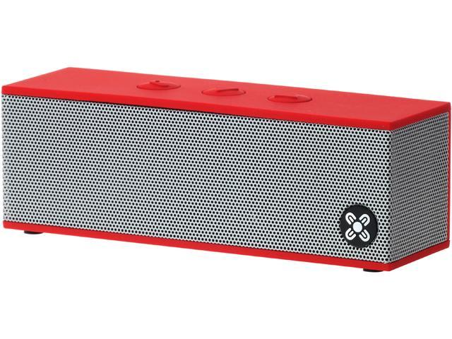 Moki ACCBBXR BassBox Portable Bluetooth Speaker with Microphone - Red