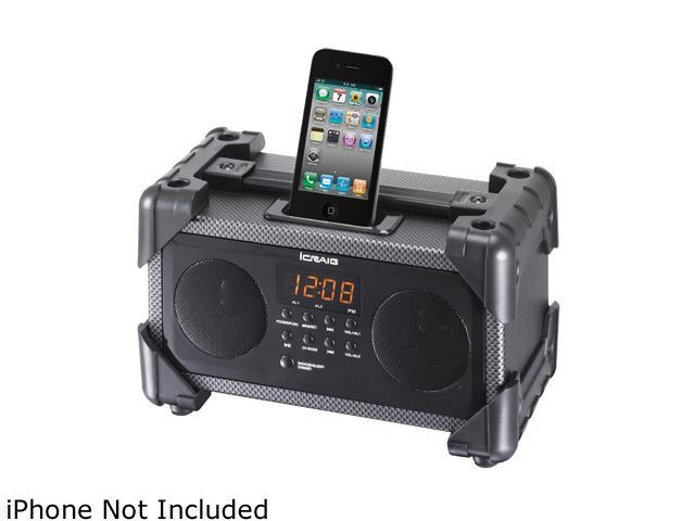 Craig iPod / iPhone Dual Alarm Clock, Digital PLL FM Stereo Radio CMB3228