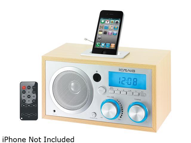 Craig iPod/iPhone Docking Clock Radio - CMB3215