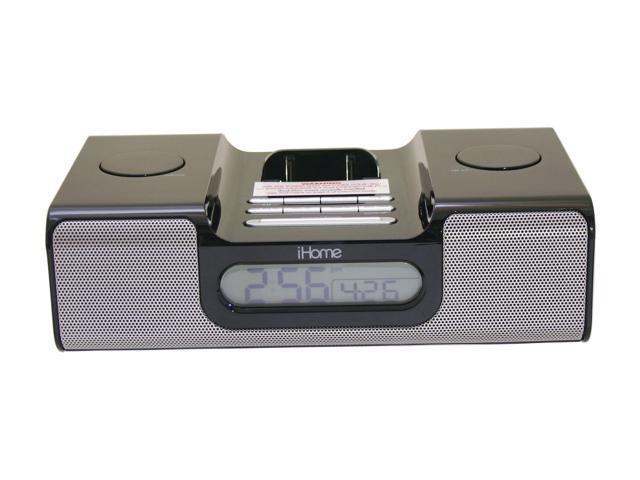 iHome iPod Clock Radio Black Model iH5B