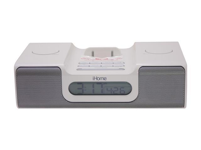 iHome iPod Clock Radio White Model iH5W