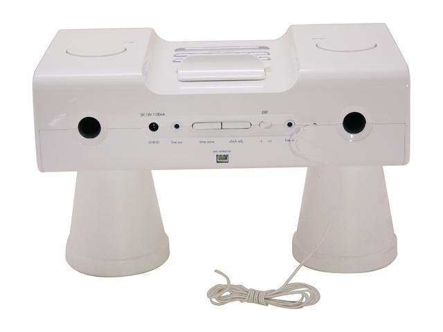 iHome iPod Clock Radio White Model iH5W