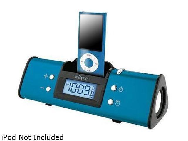 iHome Alarm Clock Spkr Sys Blue IH16LVX