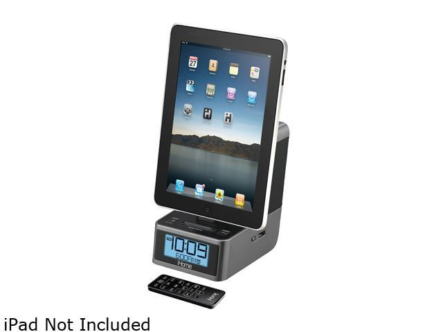 iHome App-Enhanced Dual Alarm Clock with FM Radio and iPad/iPod/iPhone Dock iD37G