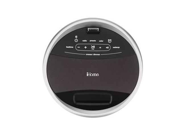 iHome App-Enhanced Color Changing FM Alarm Clock Radio with iPod/iPhone Dock IA17WZC