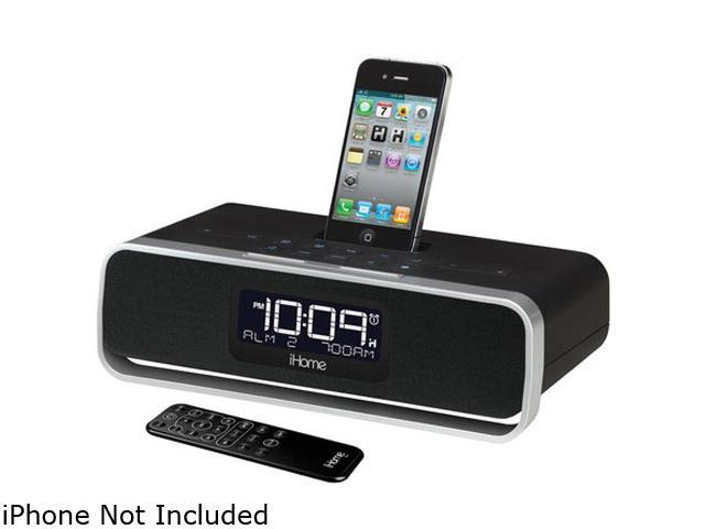 iHome App-Enhanced Dual Alarm Clock Radio with AM/FM Stereo System with iPod/iPhone Dock IA91BZ