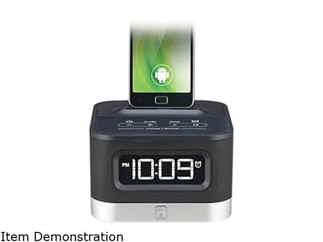 iHome Smartphone-Charging FM Stereo Alarm Clock Radio with Patented SmartSlide IC50BC