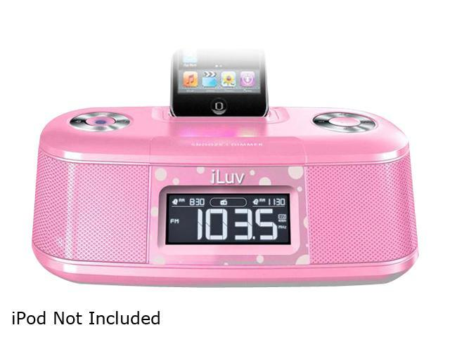 iLuv Vibro Desktop Alarm Clock with Bed Shaker for iPod                                                        iMM153PNK