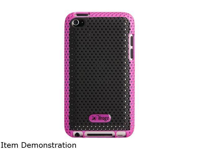 ZAGG iFrogz Apple iPod Touch 4th Gen Breeze Cover IT4BRZ-PNK/BLK
