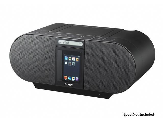 SONY CD Boombox Compatible w/ most iPods, iPhones ZS-S4iPBLACK