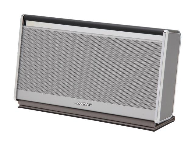 Bose® SoundLink II® Wireless Mobile Speaker – Leather Silver Finish, Dark Brown Leather cover