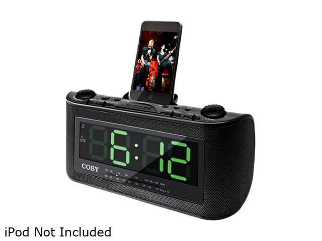 COBY Alarm Clock/Radio For iPod CSMP120