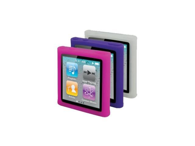 Scosche tightGRIP n6 - (Light) 3 Pack of Silicone Skins for iPod Nano (Gen 6) IS3L