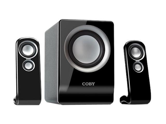 Coby CSMP80BLK 100W 2.1-Channel Multimedia Speaker System