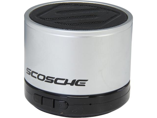 Scosche BTSPK1SR Bluetooth Micro Portable Speaker Silver