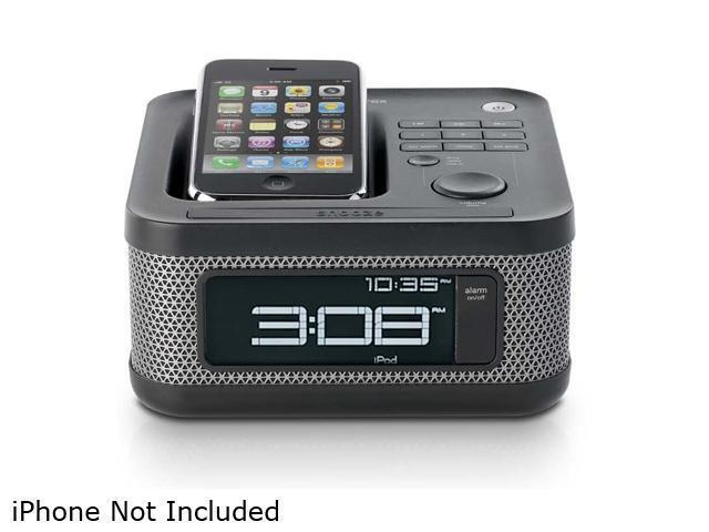 Memorex Mini Alarm Clock Radio for iPod and iPhone (Charcoal Black) MI4604P