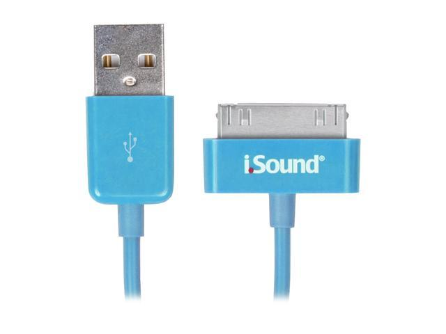 i.Sound Charge & Sync Cable for iPad, iPhone, and iPod - Blue                                               ISOUND-1632