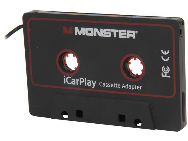 """Monster Cable iCarPlay Cassette Adapter 800 for MP3's & Smartphones to 1/8"""" Mini - 3 ft. 133218"""