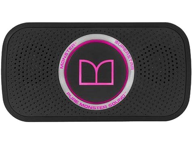 Monster SuperStar High Definition Bluetooth Speaker, Neon Pink, 129263