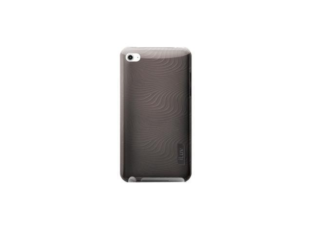 iLuv Flexi-metallic (TPU) Case with 3D pattern for iPod Touch 4th Gen, black iCC616BLK