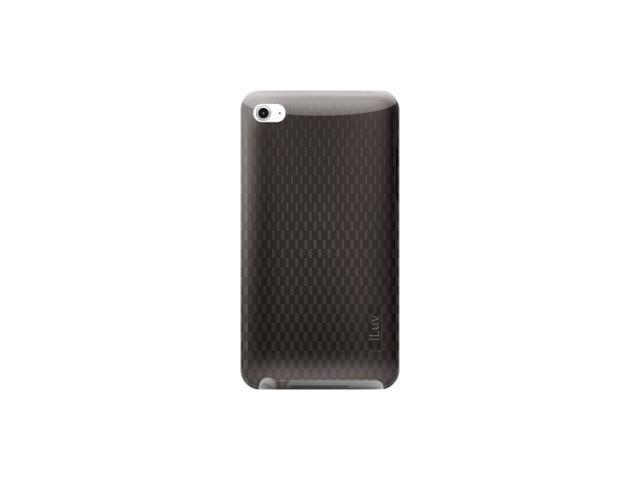 iLuv Flexi-Clear (TPU) Case with Pattern for iPod Touch 4th Gen, black iCC615BLK