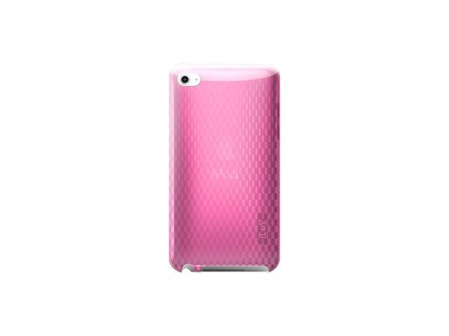 Flexi-Clear (TPU) Case with Pattern for iPod Touch 4th Gen, pink