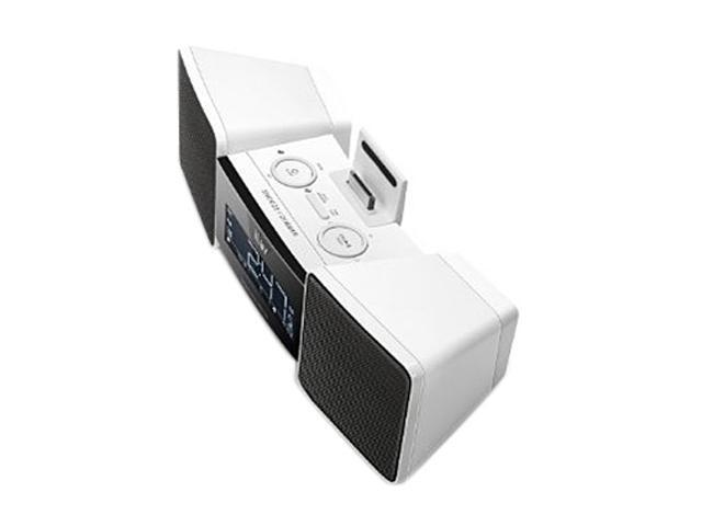 iLuv Vibro II Alarm Clock (White) with Shaker for iPhone / iPod iMM155