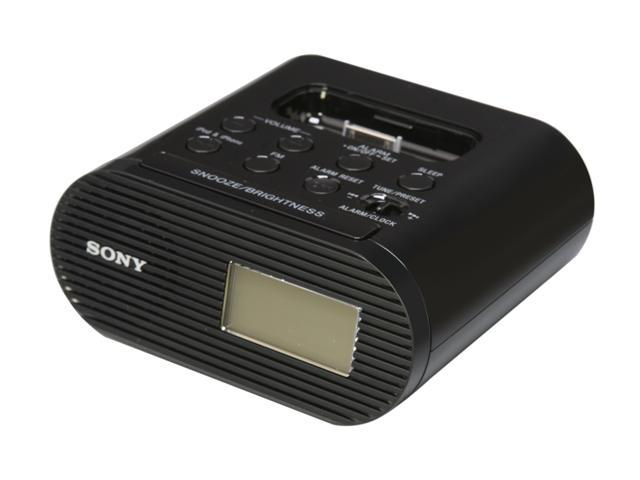 SONY iPod Dock/Clock Compatible w/ most iPods, iPhones ICFC05IPBLK