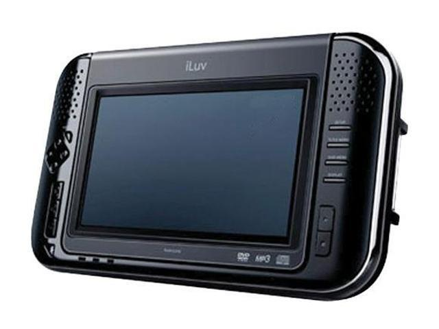 "iLuv Portable Multimedia Tablet-Style DVD Player with 7"" Active-Matrix TFT LCD Model i1055BLK"