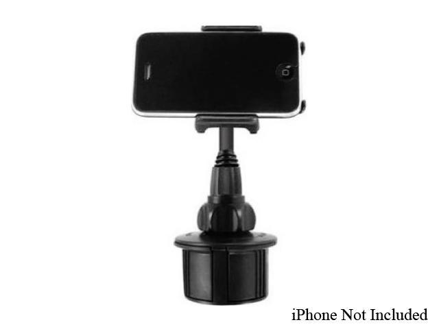 Macally mCup Adjustable Cup Holder for iPod / iPhone and Portable Players, Black