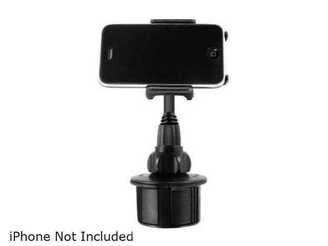 Macally Black Adjustable Automobile Cup Holder Mount For iPod & iPhone MCUP