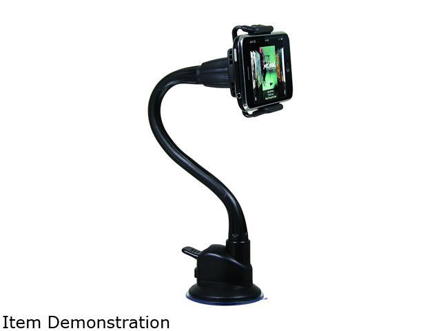 Macally mGrip Suction Cup Holder for iPod / iPhone and Portable Players, Black