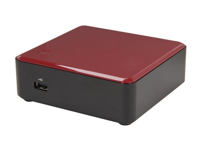 Intel NUC Kit DC3217BY Black Body and Dark Red Top Next Unit of Computing Kit
