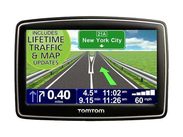 tomtom xxl 540tm 5 0 gps navigation with lifetime traffic maps update box. Black Bedroom Furniture Sets. Home Design Ideas