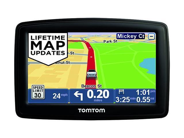 tomtom 4 3 gps navigation w lifetime map updates. Black Bedroom Furniture Sets. Home Design Ideas