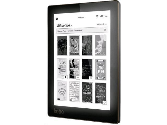 Kobo Aura H2O  E-Book  Reader N250-KU-BK-K-EP Non-Intel 1.0 GHz 4 GB Flash 6.8