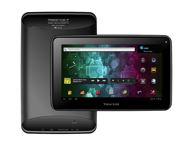 Visual Land Prestige ME-107-8GB-BLK ARM Cortex-A8 1.20 GHz 512MB DDR3 RAM Memory 7.0