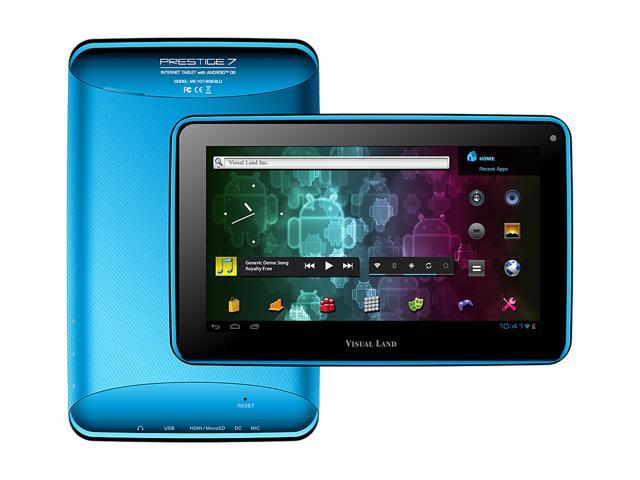 Visual Land Prestige ME-107-8GB-BLU ARM Cortex-A8 512MB DDR3 RAM Memory 8GB Flash 7.0