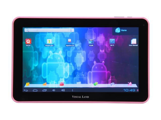 "Visual Land ME-110-16GB-PNK 16 GB 10.0"" Tablet, Pink"