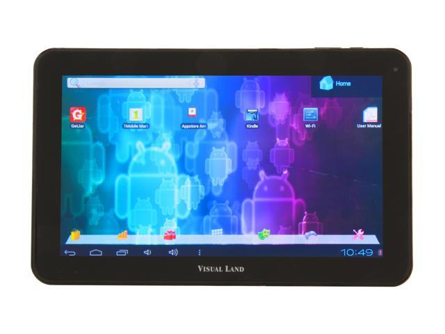"Visual Land ME-110-16GB-BLK 16 GB 10.0"" Tablet, Black"