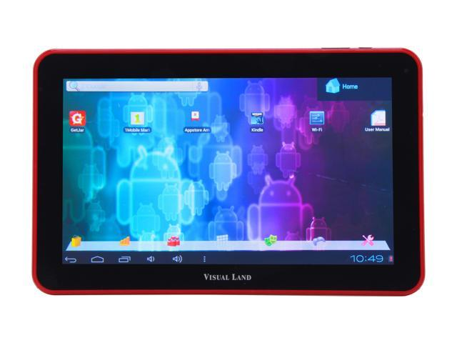 "Visual Land ME-110-16GB-RED 16 GB 10.0"" Tablet, Red"