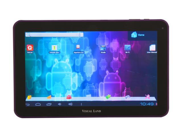 "Visual Land ME-110-16GB-PRP 16 GB 10.0"" Tablet, Purple"