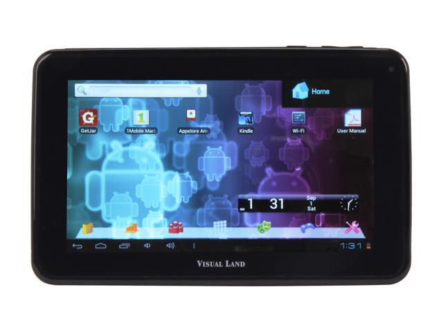 "Visual Land ME-107-L-8GB-BLK 7.0"" Tablet, Black"