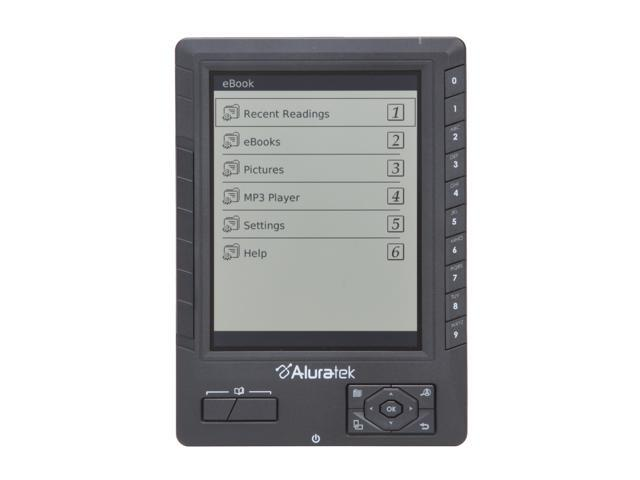 Aluratek E-Book Reader with 2GB SD Card (Black) AEBK01F