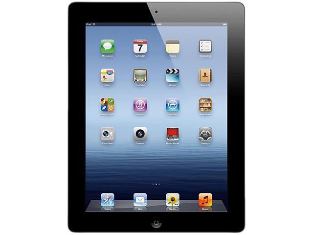 "Apple MC707LL/A 64GB flash storage 9.7"" iPad with Wi-Fi 64GB - Black (3rd generation)"