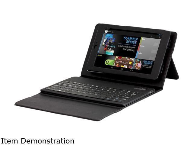 "Hip Street HSANX7FKBCSBK Asus Google Nexus 7"" Case with Bluetooth Keyboard Black"