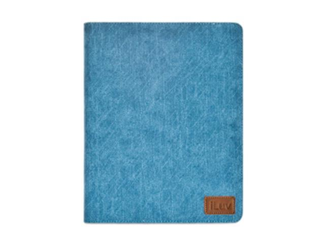 iLuv Great Jeans Denim Finished Portfolio Case for iPad 2 and The new iPad - Model iCC834BLU