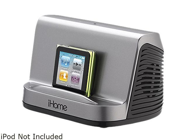 ihomeaudio IHM16G Portable MP3 Stereo Speaker Gunmetal