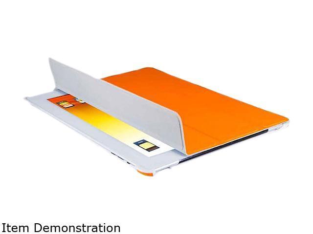 V7 Orange Kit-slim Tri-fold Folio Stand Case for iPad2 Model TA37ORG-2N-KIT