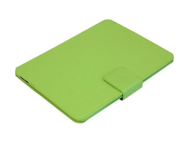 Aluratek Green Ultra Slim Non-Slip Grip Folio Case With Keyboard for iPad 2/3 Model ABTK02FG